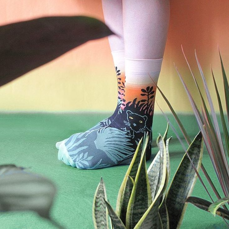 "459 Likes, 6 Comments - Bonne Maison France (@bonnemaisonfr) on Instagram: ""Dark Panther 🌴🌳🌿in the new story : L'Ile 🏝#bonnemaison #socks #madeinfrance #chaussettes"""