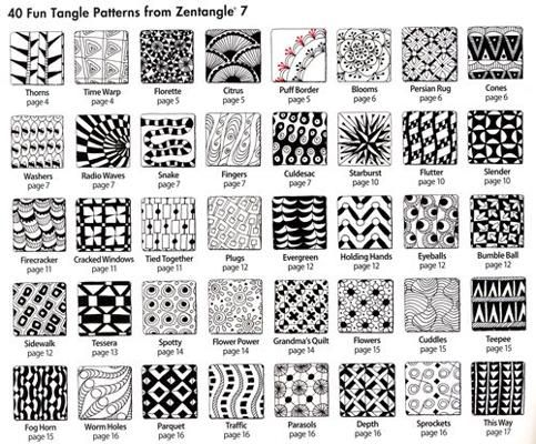 40 more tangles with How-to steps