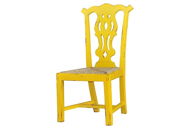 Yellow side chairDecor Ideas, Yellow Side, Decor Decor, Hello Yellow, Colors Chairs, Yellow Chairs, Design, Side Chairs