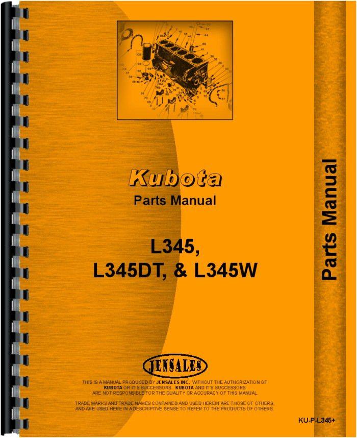 Best 25 kubota tractor parts ideas on pinterest used kubota kubota l345w tractor parts manual sciox Images