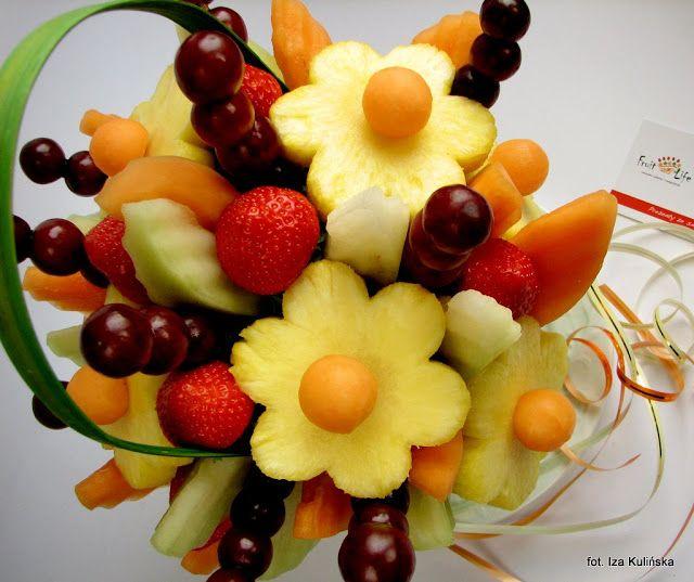 Smaczna Pyza: Owocowy bukiet zamiast kwiatów ?