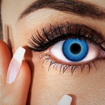 Farblinsen blau, ohne Stärke, blaue Manga Kontaktlinsen