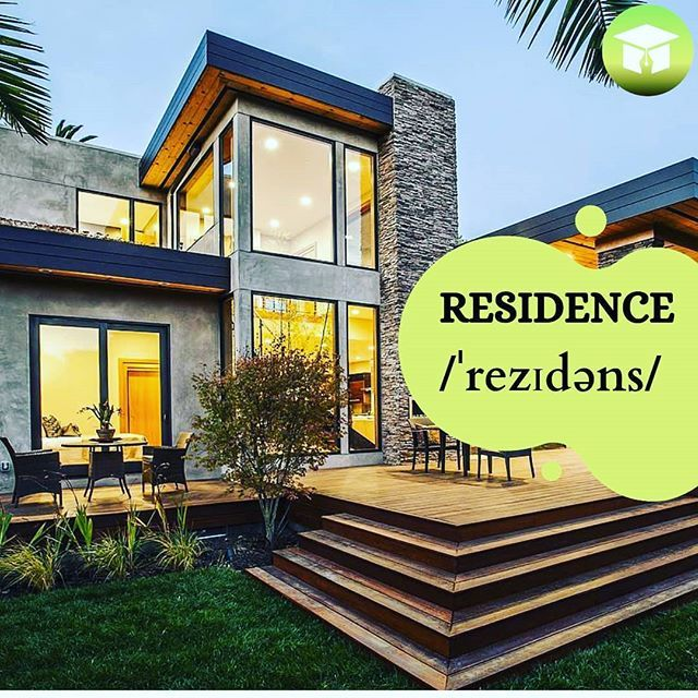 Word Residence Translation Yasayis Yeri Sentence His Residence Was Divided Into Two Parts One His Office And Another For H House Styles Residences Mansions