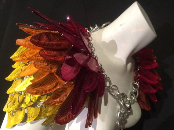 Illuminated Phoenix Feather Shoulder Wings by ElectricCandyCouture