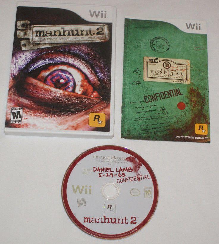 Manhunt 2 Nintendo Wii Complete Game Case Manual Excellent Condition US Mature