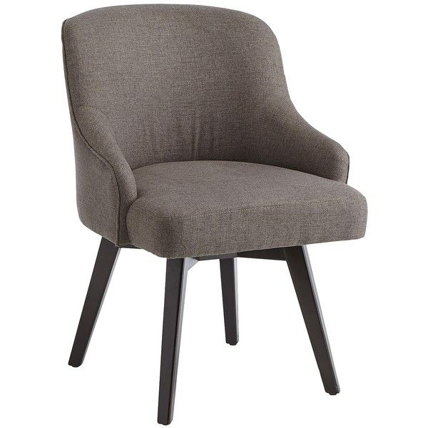 Pier 1 Imports Gray Bennie Swivel Chair ($230) Liked On