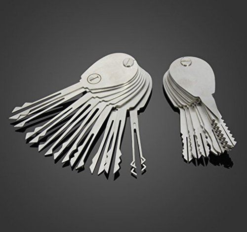 UniversalD® - 20psc Double Sided Padlock Picks Door Lock Opener Locksmith Tool C.N. http://www.amazon.com/dp/B00WX2B1X8/ref=cm_sw_r_pi_dp_LBYBvb13DJZ2S