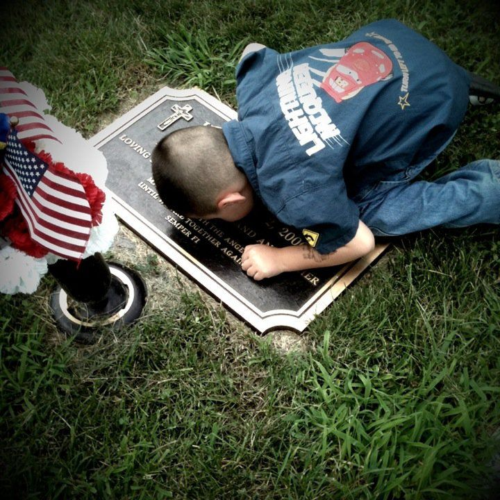 Semper Fi...A Son kissing his Father...never fail to remember and honor the high price that has been paid in blood for your life and your freedom.