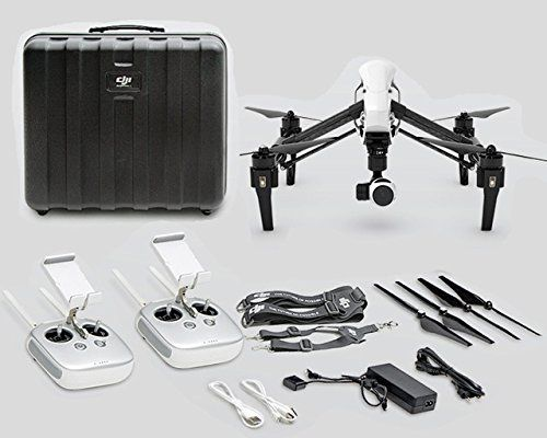 DJI Inspire 1 with Dual Remotes Plus DJI Case, 2x-64gb Micro Sd and Lanyard for Second Remote, 2x-tb47 Standard Capacity Batteries