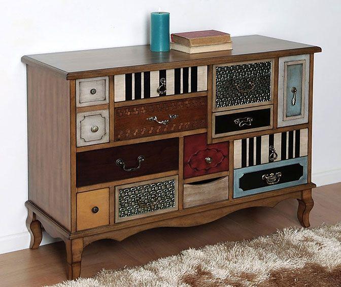 Comoda desigual pastaza material madera de paulownia - Muebles decoracion vintage ...