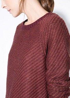 Pullover alpaca righe