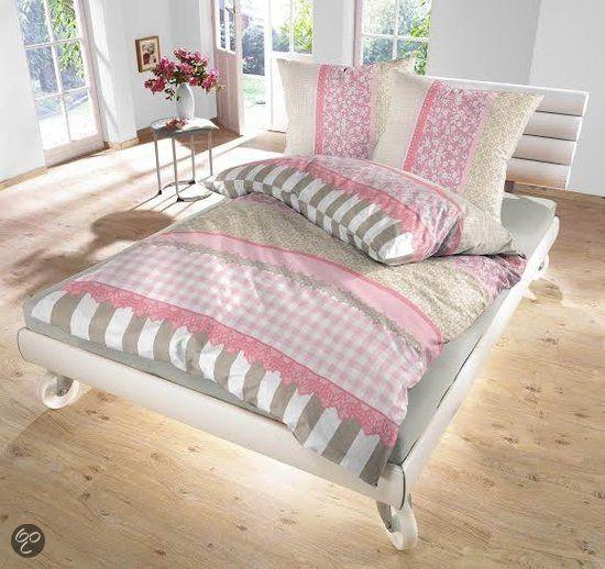 Dekbedovertrek Jip romantisch Roze 140x200/220 cm