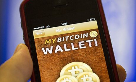 A Bitcoin wallet on a smartphone. Photograph: Bloomberg via Getty Images