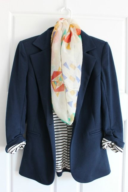 Stitch Fix - love love love this blazer - definitely need a new one now that I've done my closet clean out. Scarf is super cute too.