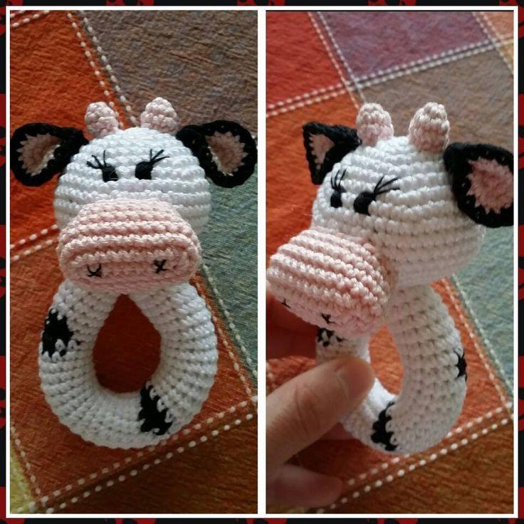 погремушка вязаная крючком Мастер-класс amigurumi crochet cow