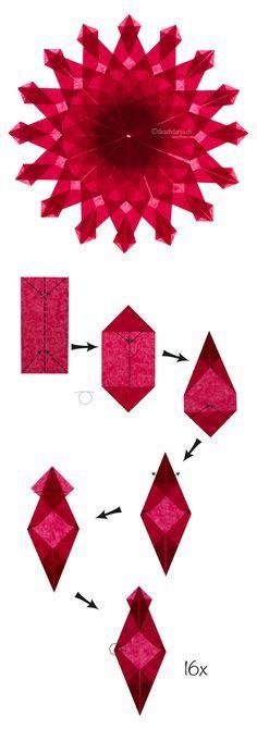 Origami window stars
