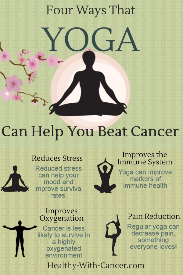 Four Ways that Yoga can help you beat cancer:  http://www.healthy-with-cancer.com/alternative-cancer-treatment.html