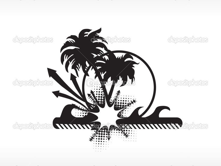 Silhouette Art Beach Hut