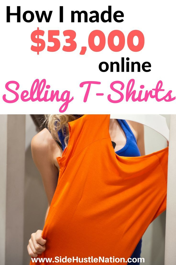 I can't believe this simple side hustle has already made me $53,000! If you want to make money selling t-shirts online, or are looking for a profitable new side hustle, this one's for you. Best tips and hacks to make money selling t-shirts online.