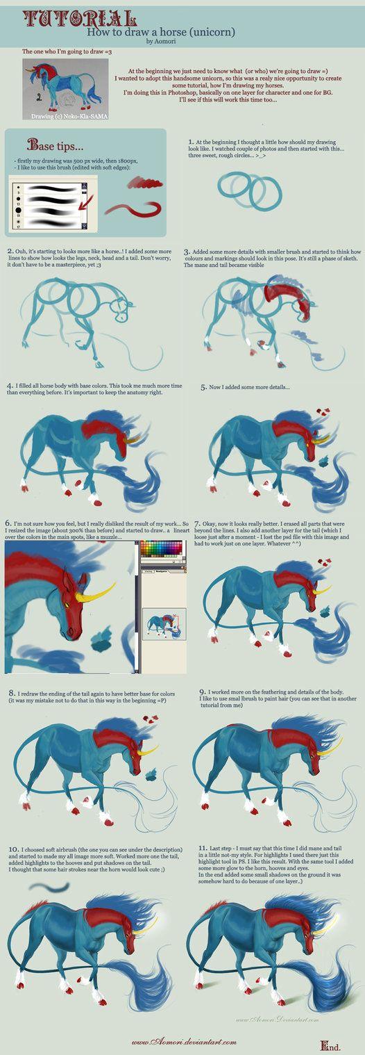 Tutorial: horse-unicorn- body by Aomori on deviantART