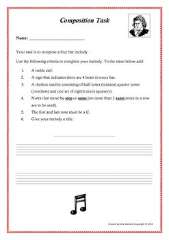 This is a very easy composition activity for young or beginning music students.  $