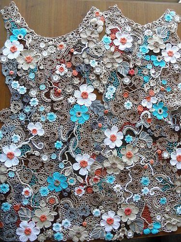 """Кружевное платье """"Самоцветы"""" - Вязание - Страна Мам"""