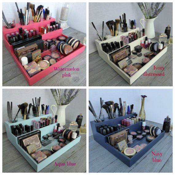 Makeup organizer – cosmetic storage – lipstick holder – bathroom storage – rangement maquillage – Many colors available – watermelon pink