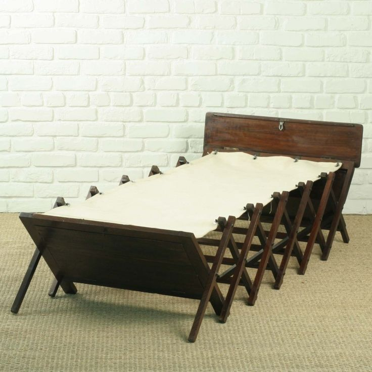 Campaign Beds   bed british campaign solid teak folding bed with cotton bed bed ...