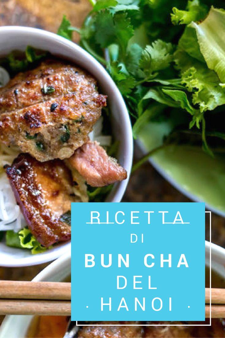 Ricetta di Bun Cha del Hanoi -Vermicelli con carne di maiale alla griglia