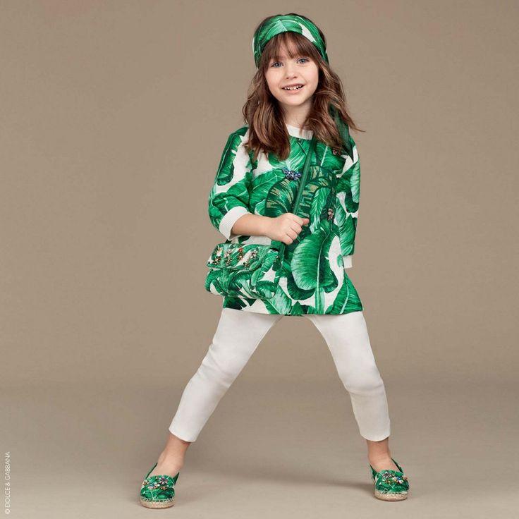 Dolce & Gabbana - Botanical Banana Leaf Silk Brocade Espadrilles | Childrensalon