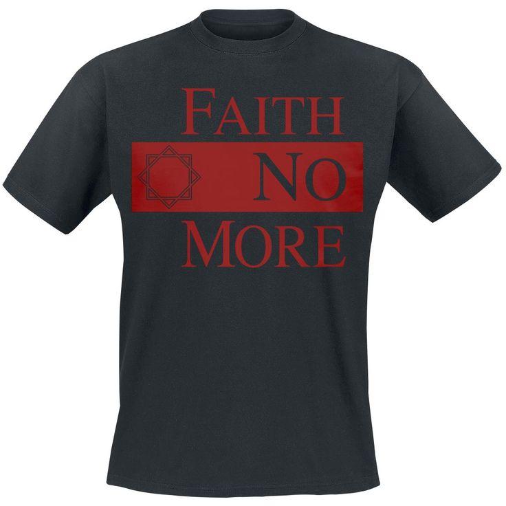 """Classica T-Shirt uomo nera """"Star Logo"""" dei #FaithNoMore con ampia stampa frontale."""