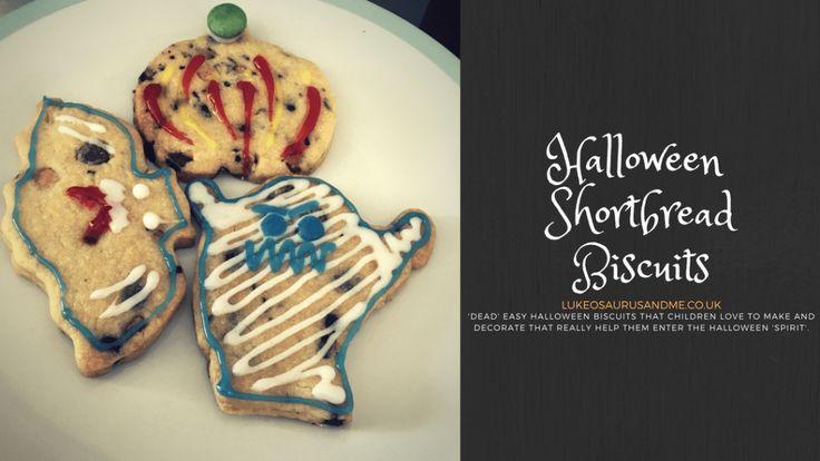 Halloween Shortbread Biscuit Recipe for kids at http://lukeosaurusandme.co.uk