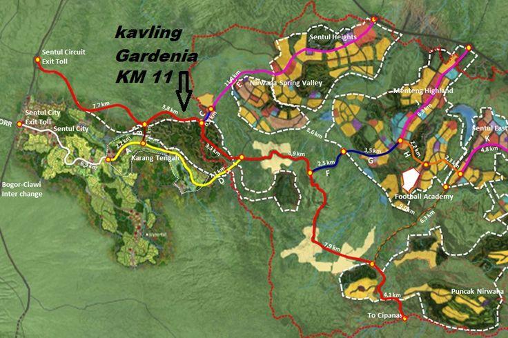 Master Plan Sentul Kavling Gardenia terletak di Jalur Puncak 2 yang merupakan Kawasan Potensial di Bogor