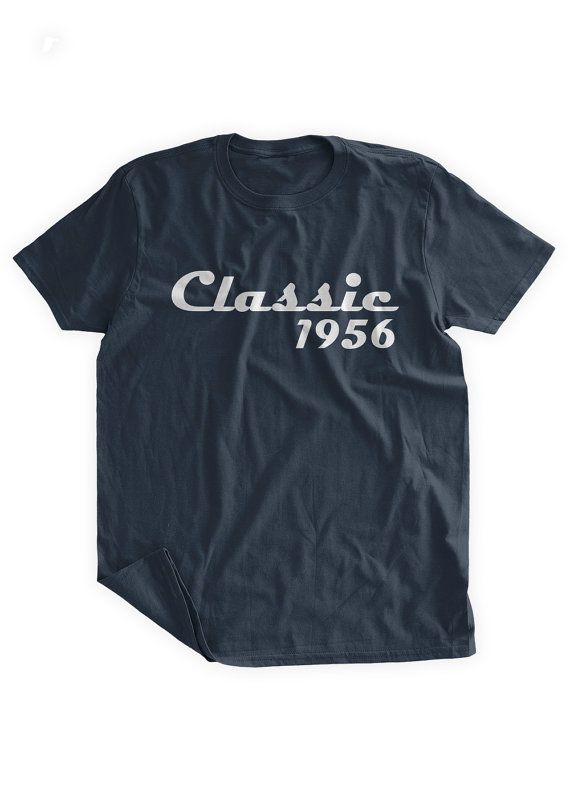 Classic 1956 T-shirt 60th Birthday Tshirt 60th by BumpCovers  https://www.birthdays.durban