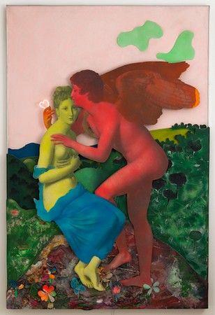 Tableau simple et doux (1965) Martial Raysse.
