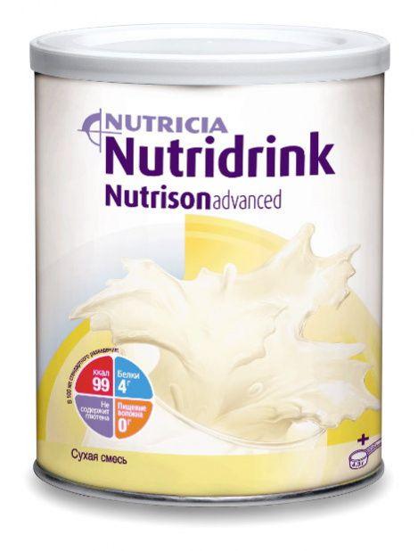Нутридринк Эдванс Нутризон - универсальное полноценное сбалансированное питание для введения в желудочно-кишечный тракт (ЖКТ) с помощью зонда или для перорального приема. Может применяться у детей старше года и взрослых. Может являться единственным источником питания. Нутридринк Эдванс Нутризон не содержит глютена и клинически значимого количества лактозы. Возможны гипо-, гипер- и стандартное разведения, что позволяет его использовать для адаптивного и основного этапов энтерального питания.