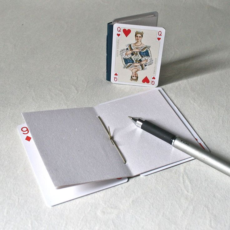 DIY Make It Yourself Playing Card Book Kit for Crafting Stocking Stuffer Adolescent Gift, via Etsy.
