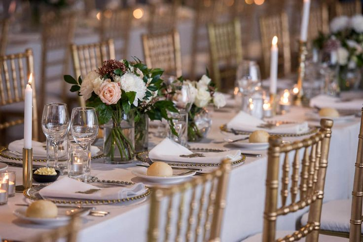 Table Setting with Tiffany Chairs - A Wedding at The Joinery West End with DJ Ben Shipway // #GMEventGroup #DJBenShipway #BrisbaneWedding #WeddingDJ