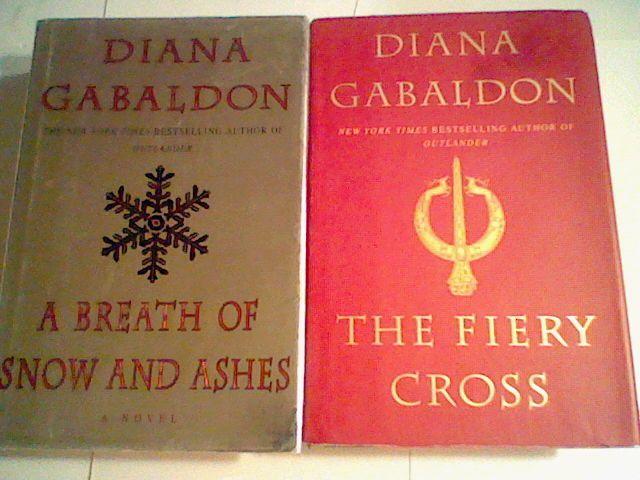 Breath of Snow / The Fiery Cross, Outlander series Diana Gabaldon  Hardcover lot
