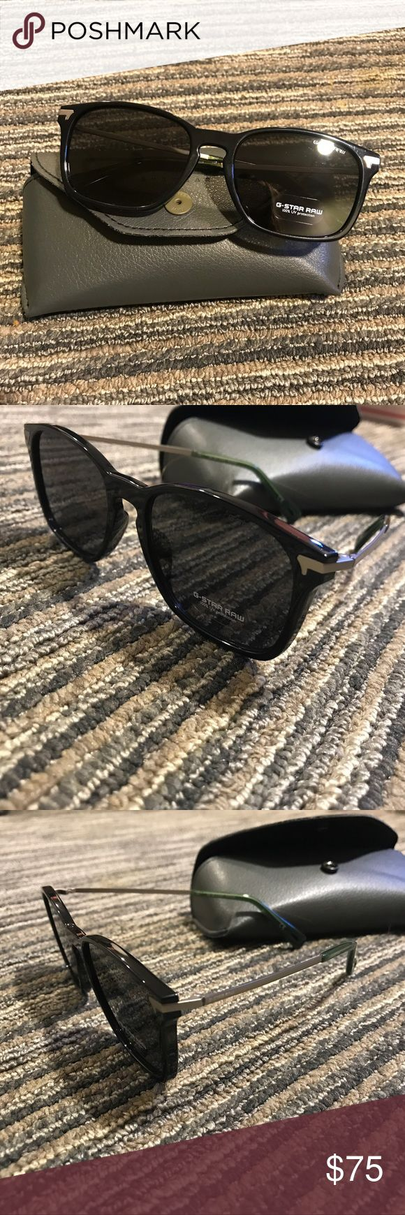 NWOT G-STAR RAW SUNGLASSES G-star raw sunglasses Never used 100% UV protection  Black, silver, and green G-star raw written on the top of one lenses Comes with case  Bundle and save! Prices are always negotiable 💜💙 G-Star Accessories Sunglasses