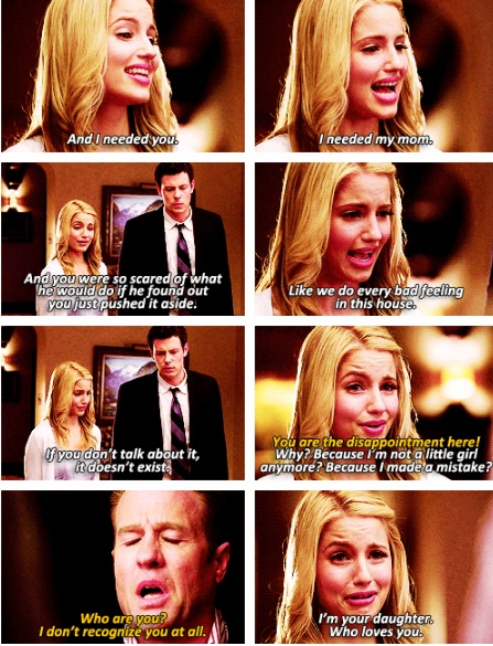 A moment where I actually liked quinn. Diana agron was so good here