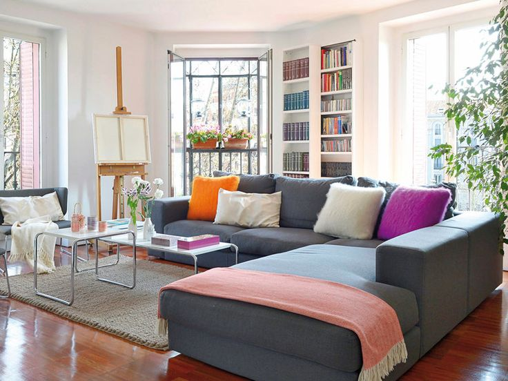 La mejor elección: #sofás con chaise longue #salón