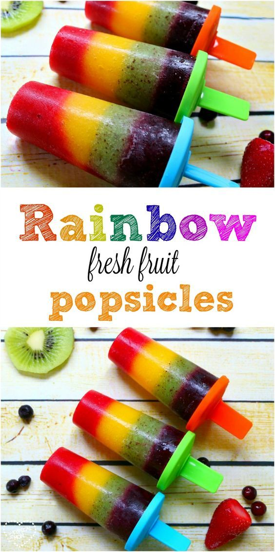 Rainbow popsicle ! How to make healthy fresh fruit popsicles you and the kids will love!