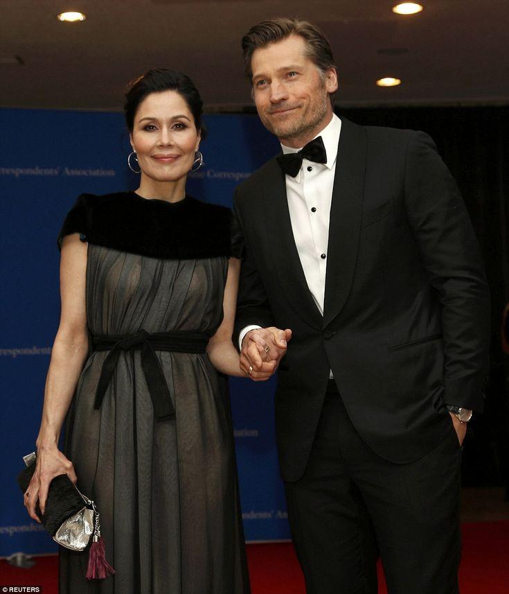 Actor Nikolaj Coster-Waldau and his wife, Nukaka Correspondents Gala Dinner