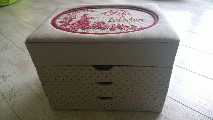 Boîte fils à broder - boite cousue - cartonnage - Tatiana Alves