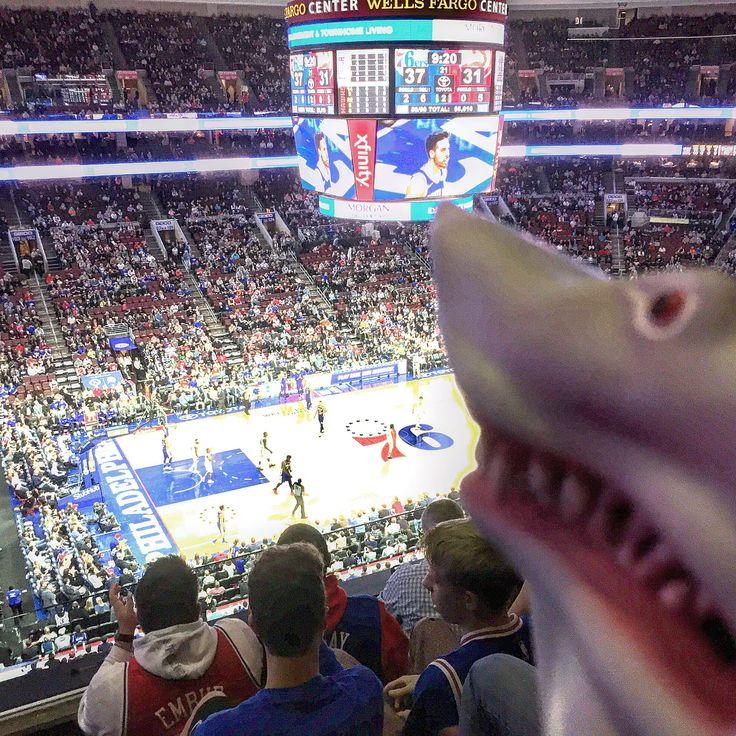 MamaShark taking in a 76ers game with baby shark @ Wells Fargo Center Philadelphia! Go Sixers! Sixers Win!!! #mymothersashark #sharknado #shark #sharkmama #wellsfargocenter #gosixers #sixers #76ers #trusttheprocess #sixersgame #sixersnation #philadelphiasixers #sixerswin #gamenight #gamertime #basketball #awesomenight