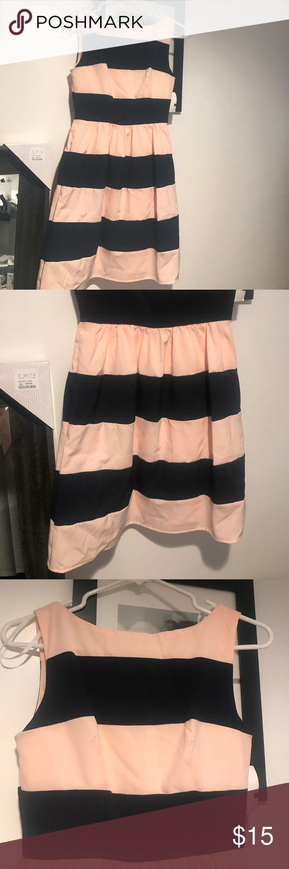Never used classy cocktail dress Never used. Classy cocktail dress. Baby pink and navy stripes. B. Smart Dresses