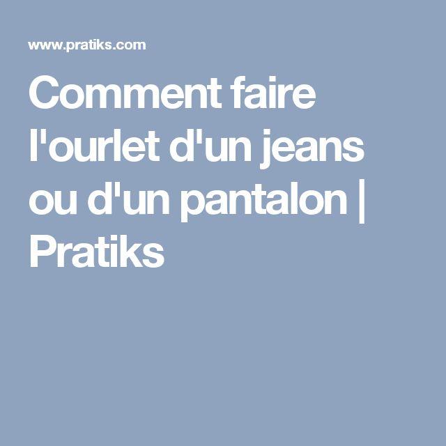 1000 id es sur le th me jeans ourlets sur pinterest ourler des pantalons coudre et machines - Comment faire un ourlet de jean ...