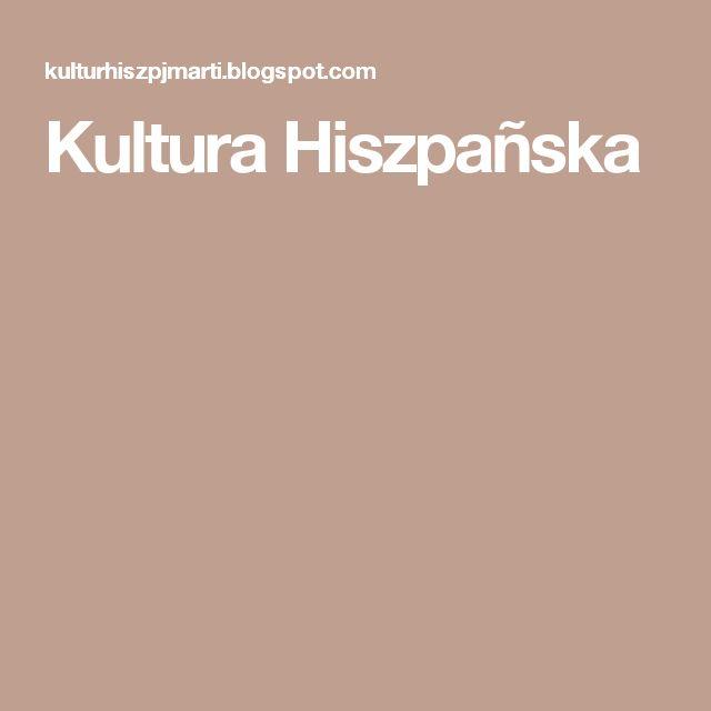Recopilación de material para las SSBB de Polonia Kultura Hiszpañska
