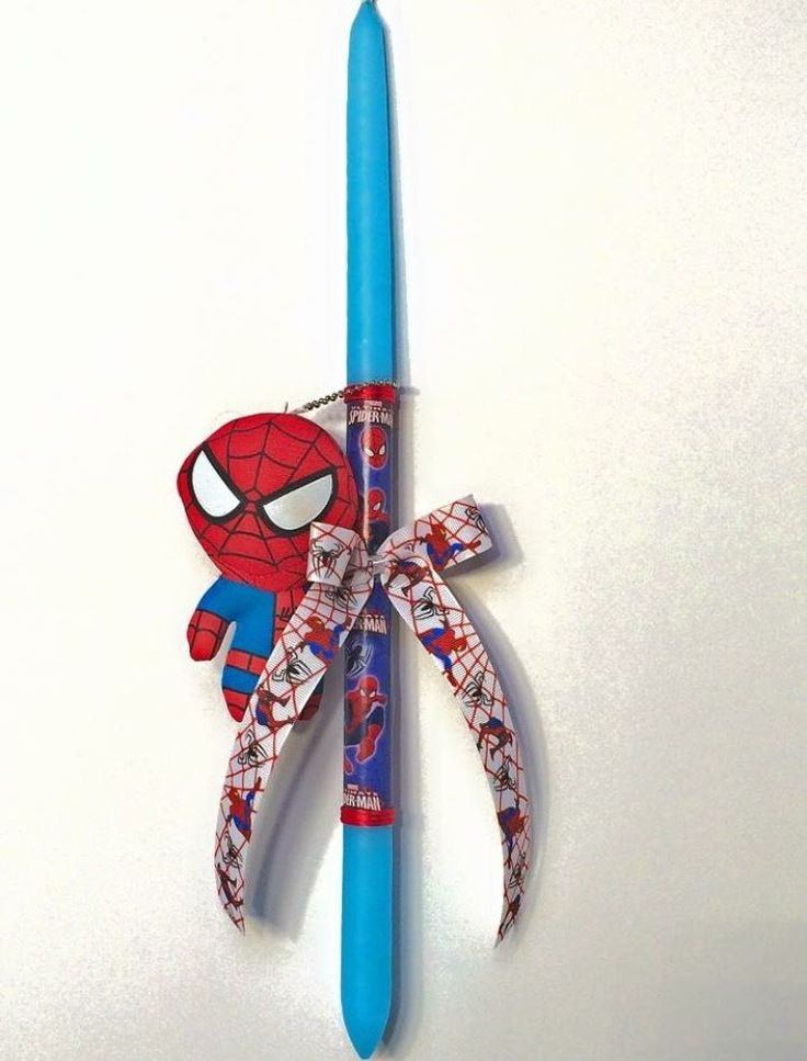 Easter candles,SPIDERMAN Easter candles Greek easter lambada